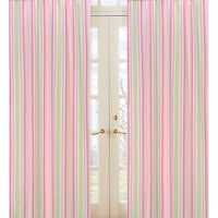 Sweet Jojo Designs Pink Green And White 84 Inch Window Treatment Curtain Panel