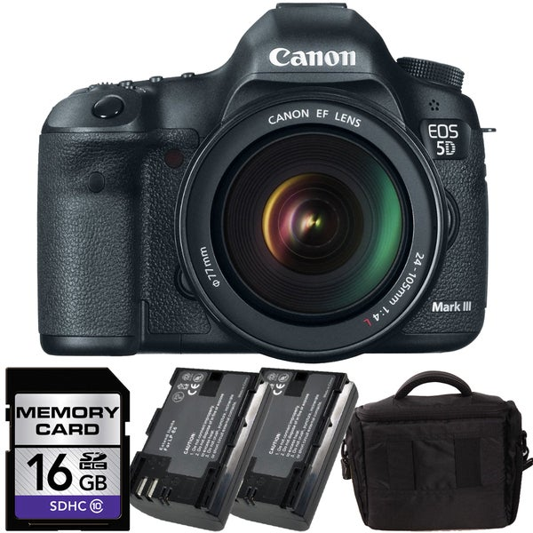Canon EOS 5D Mark III DSLR Camera with 24-105mm IS Bundle