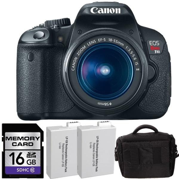 Canon Rebel EOS T4i Digital SLR Camera with 18-55mm Bundle