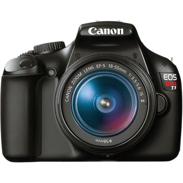 CANON EOS Rebel T3 Digital SLR Camera with 18-55mm Bundle (Black)