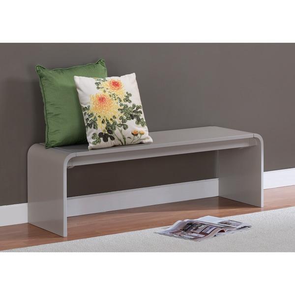 Contemporary Grey Wood Bench