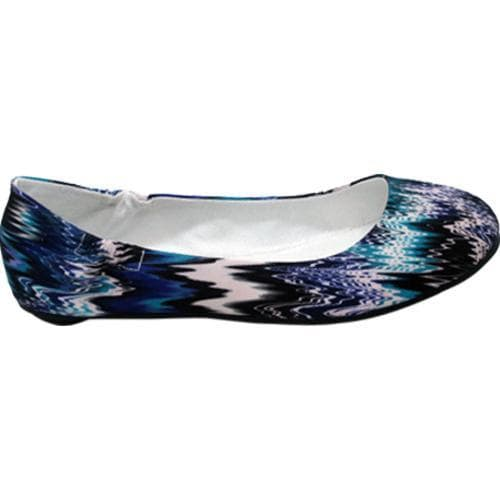 Women's Footzyfolds Bethany Blue Multi - Thumbnail 1
