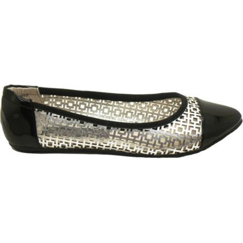 Women's Footzyfolds Kourtney Black/Silver - Thumbnail 1