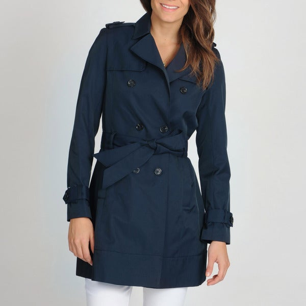 Tommy Hilfiger Women's Double-breasted Belted Trench Coat