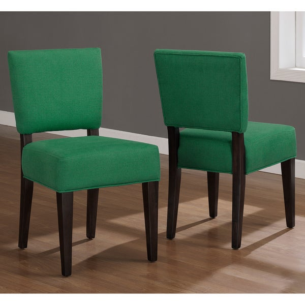 Emerald Green u0026#39;Savannahu0026#39; Dining Chairs (Set of 2) - Free Shipping Today - Overstock.com - 15148362