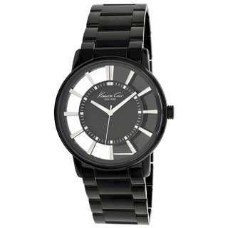 kenneth cole men s watches shop the best deals for 2017 kenneth cole men s newness black stainless steel black dial quartz watch