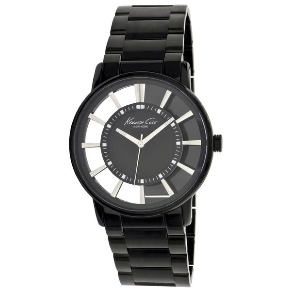 Kenneth Cole Men's Newness Black Stainless Steel Black Dial Quartz Watch
