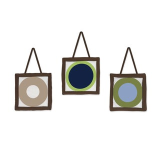 Sweet JoJo Designs Designer Dot Modern Wall Hangings (Set of 3)