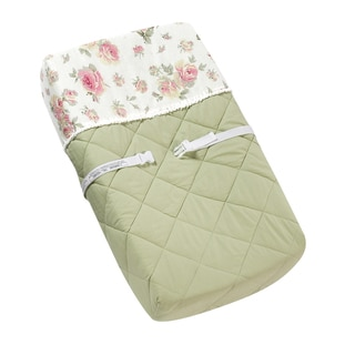 Link to Sweet JoJo Designs Riley's Roses Changing Pad Cover Similar Items in Kids Comforter Sets