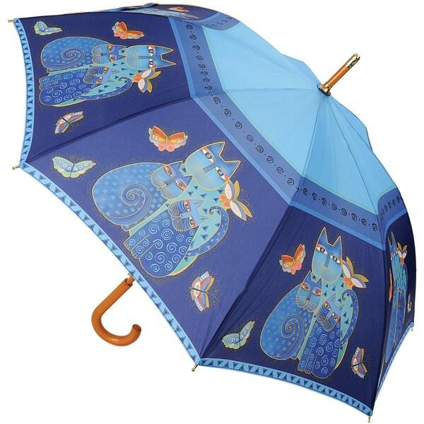 Laurel Burch 'Indigo Cat' Canopy Stick Umbrella