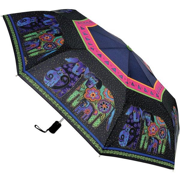 Laurel Burch 'Dog and Doggies' Compact Umbrella