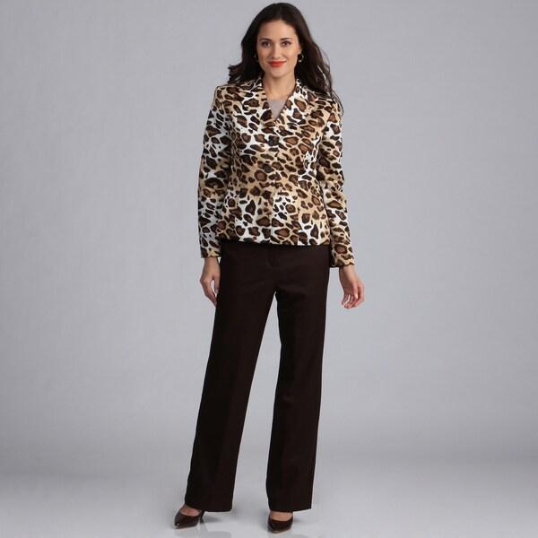Danillo Women's Leopard Print Pant Suit