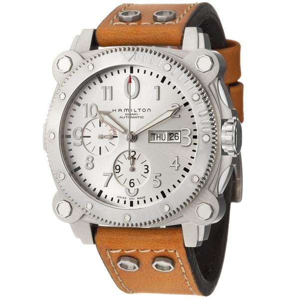 Hamilton Men's 'Khaki Navy' Stainless Steel Chronograph Watch