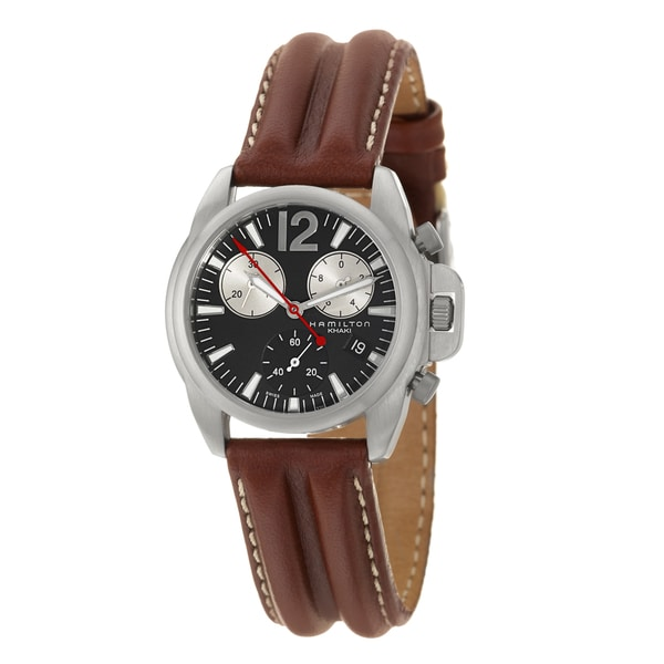 Hamilton Men's 'Khaki Action' Stainless Steel Chronograph Watch