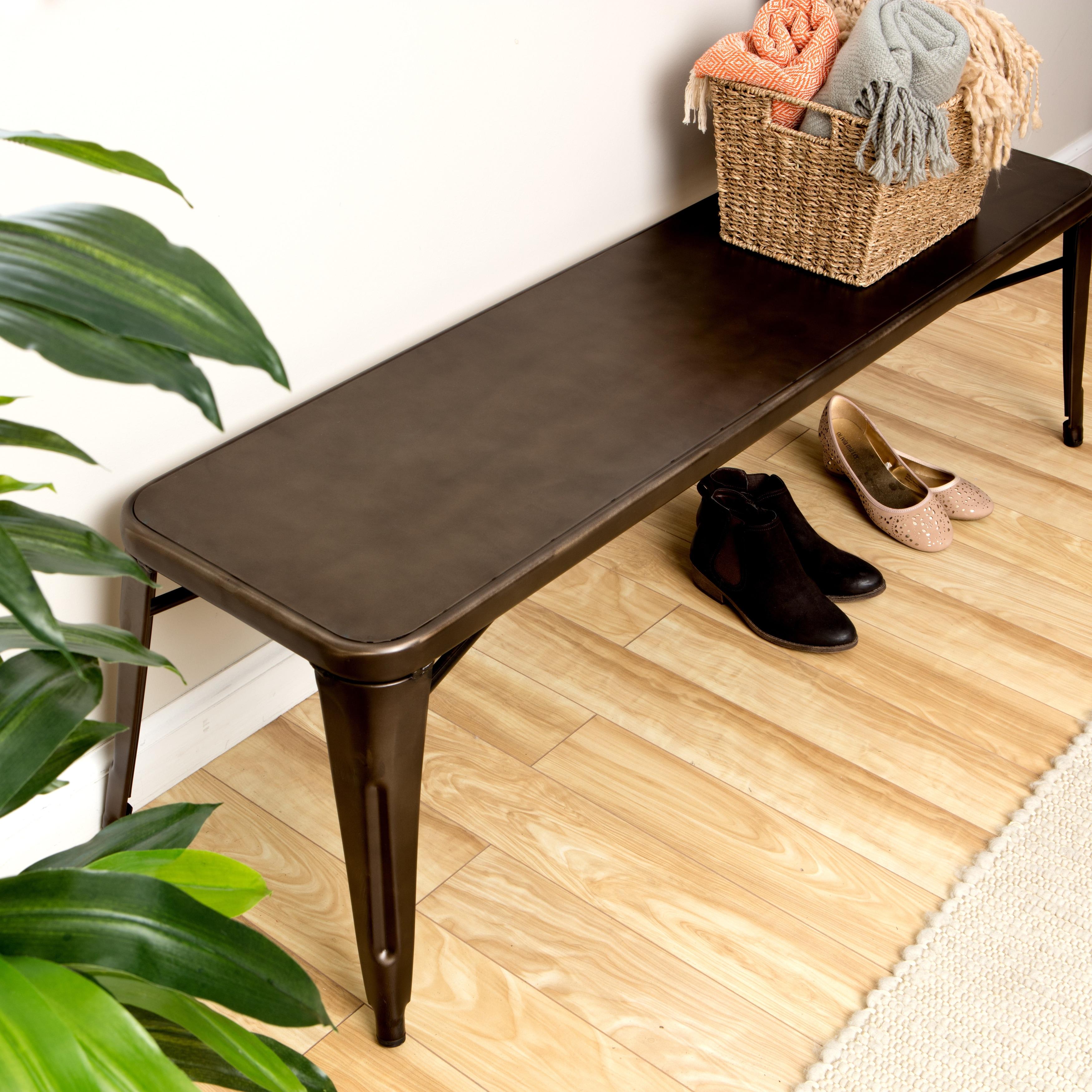 Fabulous Vintage Brown Grey 60 Inch Indoor Bench Machost Co Dining Chair Design Ideas Machostcouk