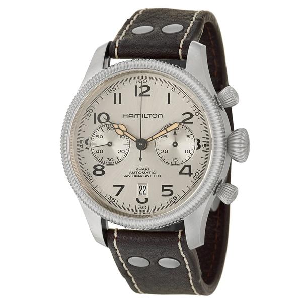 Hamilton Men's 'Khaki Field' Stainless Steel Chronograph Swiss Watch