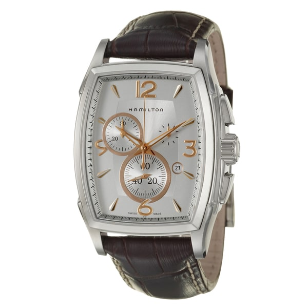 Hamilton Men's 'Jazzmaster' Stainless Steel Chronograph Watch