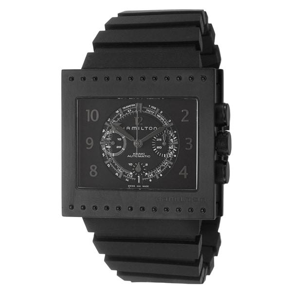 Hamilton Men's 'Khaki Action Code Breaker' Titanium Chronograph Watch
