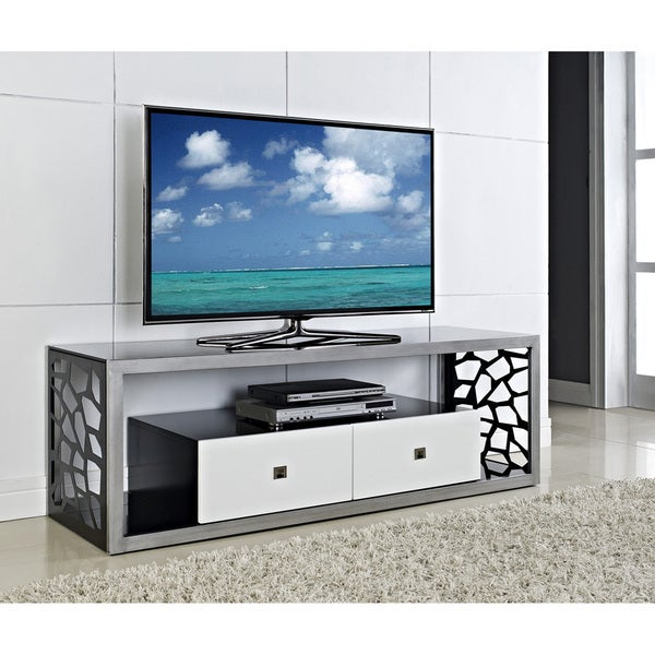 Shop Black Glass Modern Mosaic 60 Inch Tv Stand Free