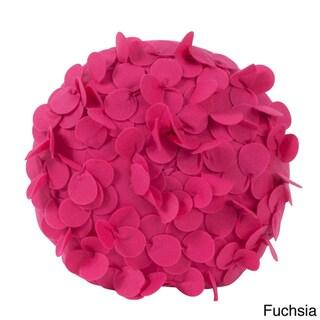 Round Flower 13-inch Decorative Throw Pillow
