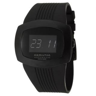 Hamilton Men's 'Pulsomatic' Black Stainless Steel Digital Watch