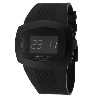 Hamilton Men's 'Pulsomatic' Black Stainless Steel Digital Watch|https://ak1.ostkcdn.com/images/products/7750993/7750993/Hamilton-Mens-Pulsomatic-Black-Stainless-Steel-Digital-Watch-P15149270.jpg?_ostk_perf_=percv&impolicy=medium