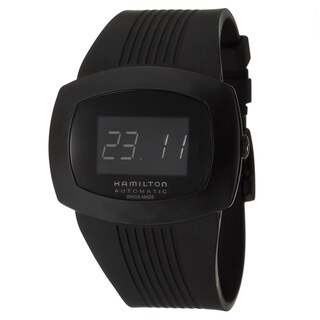 Hamilton Men's 'Pulsomatic' Black Stainless Steel Digital Watch