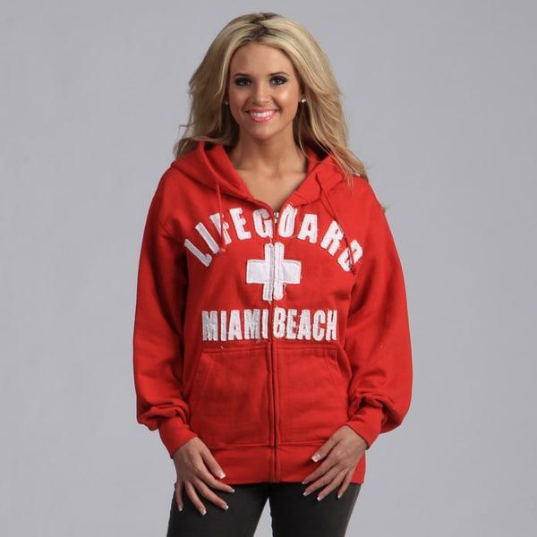 Lifeguard Unisex Applique Zip-up Hooded Sweatshirt