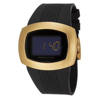 Hamilton Men's 'Pulsomatic' Yellow Gold PVD-coated Digital Watch