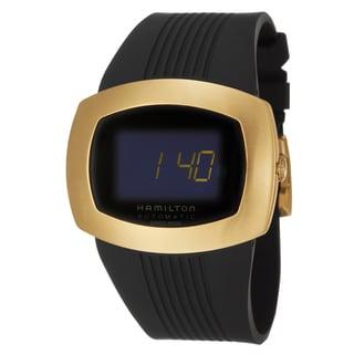Hamilton Men's 'Pulsomatic' Yellow Gold PVD-coated Digital Watch