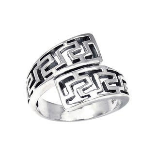 Handmade Unique Twist Wrap Greek Key Sterling Silver Ring (Thailand)