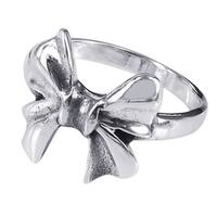 Handmade Sterling Silver Cute Bow Tie Ribbon Ring (Thailand)