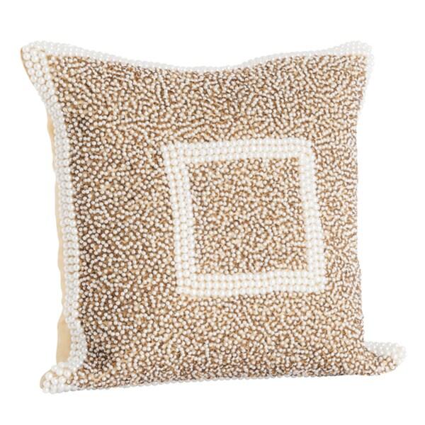 Beaded Decorative Pillow