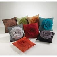 Saro Flower Design 17-inch Throw Pillow
