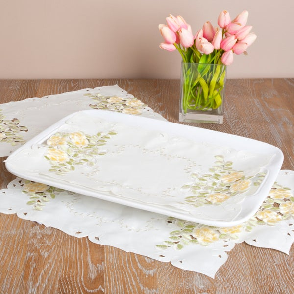 Embroidered and Cutwork Polyester Table Linens