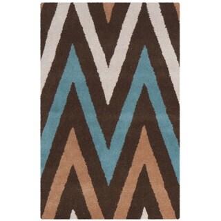 Safavieh Handmade Chatham Angele Modern Moroccan Wool Rug (2 x 3 - Brown/Multi)