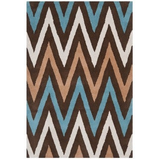 Safavieh Handmade Chatham Angele Modern Moroccan Wool Rug (4 x 6 - Brown/Multi)