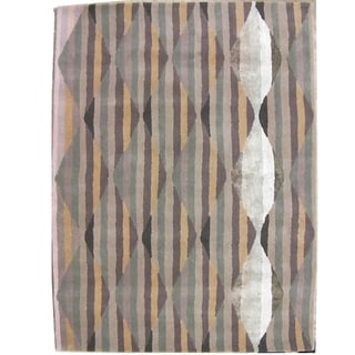 Safavieh Handmade Chatham Southwestern Abstract Grey Wool Rug (4' x 6')