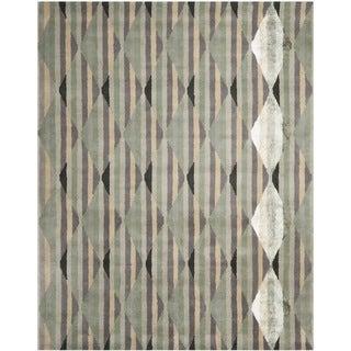 Safavieh Handmade Chatham Southwestern Abstract Grey Wool Rug (8' x 10')
