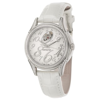 Hamilton Women's 'Jazzmaster' Steel Diamond Swiss Automatic Watch