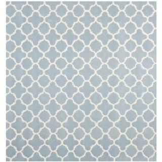 "Safavieh Durable Handmade Moroccan Blue Wool Rug (8'9"" Square)"
