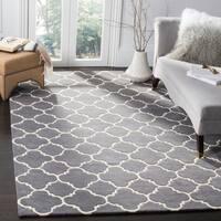 Safavieh Handmade Moroccan Chatham Trellis-pattern Dark Grey Wool Rug - 4' x 6'
