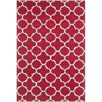 Safavieh Handmade Moroccan Chatham Red Geometric Wool Rug - 4' x 6'