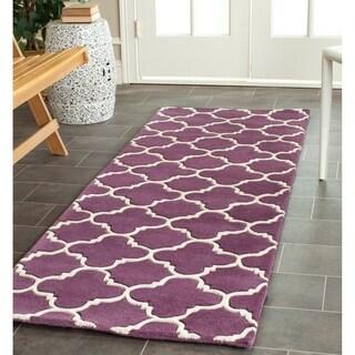 "Safavieh Handmade Moroccan Purple Wool Area Rug (2'3"" x 7')"