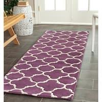 Safavieh Handmade Moroccan Purple Wool Area Rug - 2'3 x 7'