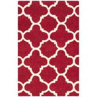Safavieh Contemporary Handmade Moroccan Red Wool Rug - 2' X 3'