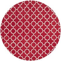 Safavieh Handmade Moroccan Red Wool Area Rug - 7' x 7' Round