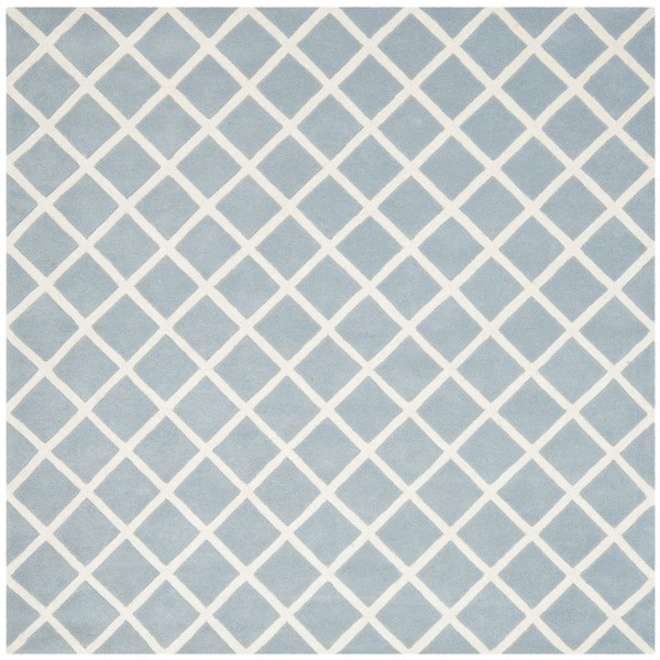 Safavieh Handmade Moroccan Chatham Blue Wool Rug (7' Square)
