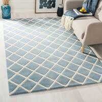 Safavieh Handmade Moroccan Blue Wool Area Rug - 4' x 6'