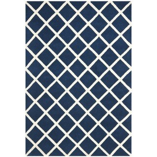 Safavieh Handmade Moroccan Chatham Dark Blue Wool Rug (3' x 5')